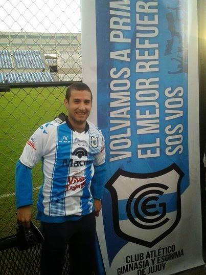 Lucas Ruiz ganador de la casaca de Gimnasia de Jujuy