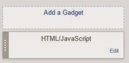 Add a Gadget and HTML/JavaScript Option in Blogger