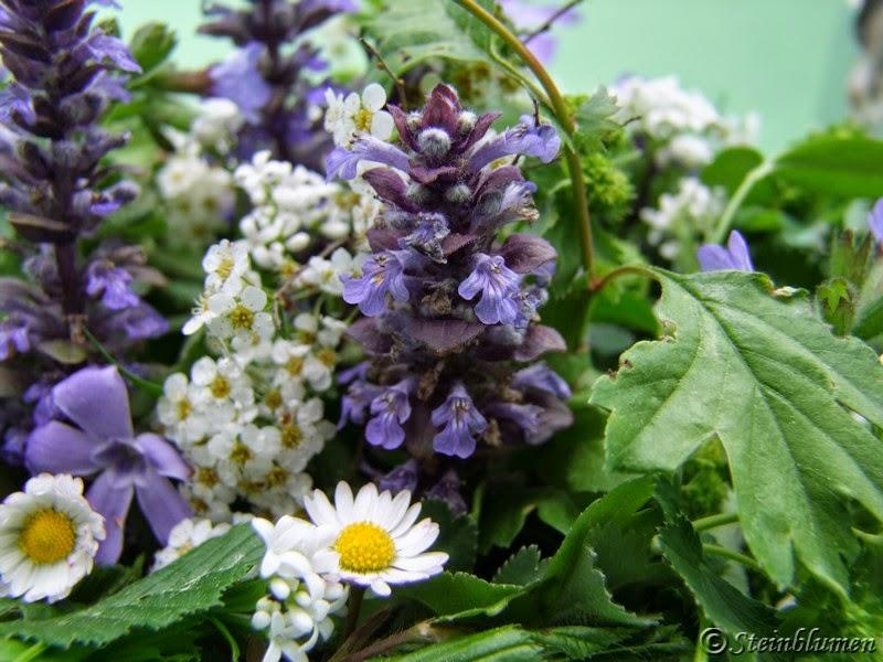 Gartenblumen Tischdeko