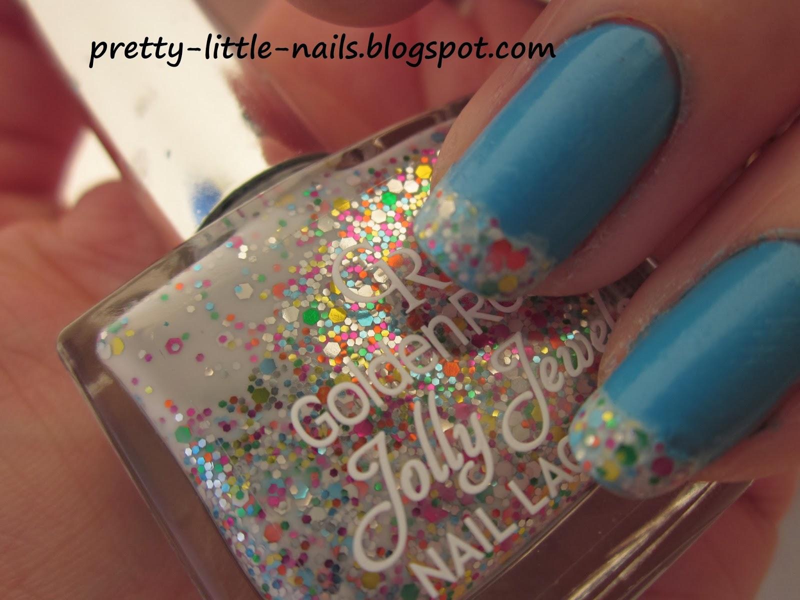 Pretty Little Nails:): Glitter french manicure.