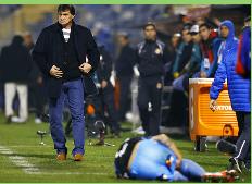 La UC y Falcioni se juegan la permanencia ante River de Uruguay en la Sudamericana