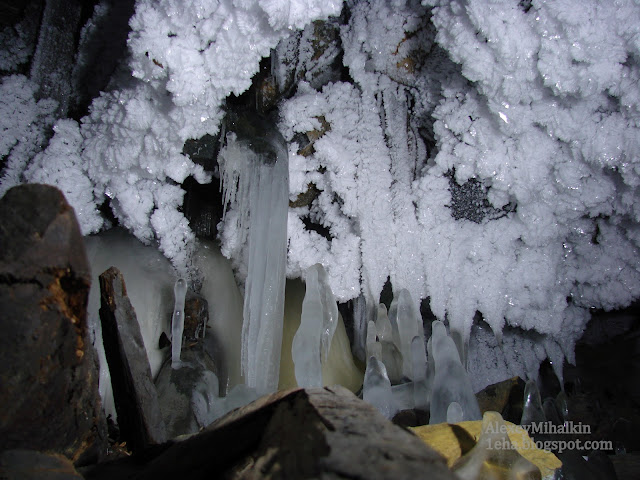 Ледяные красоты подземелий.