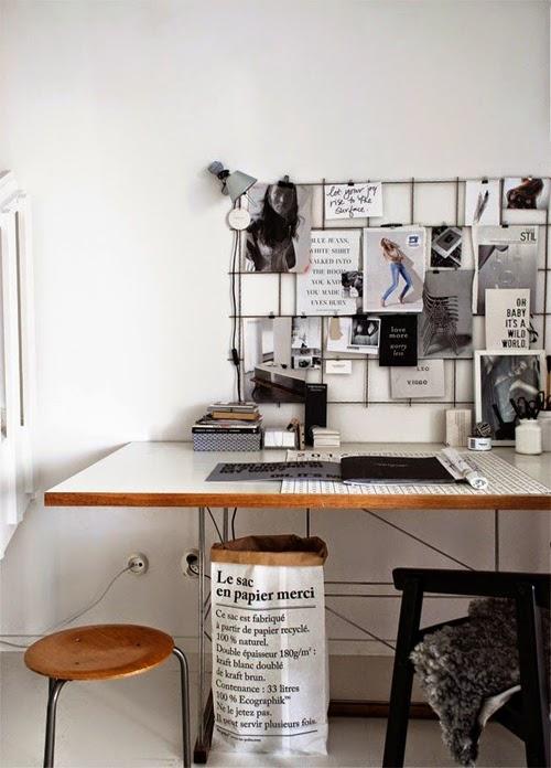 Rejilla para notas en escritorio