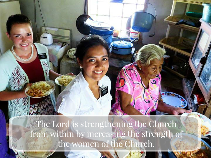 LDS Sister missionaries have a strong role to play