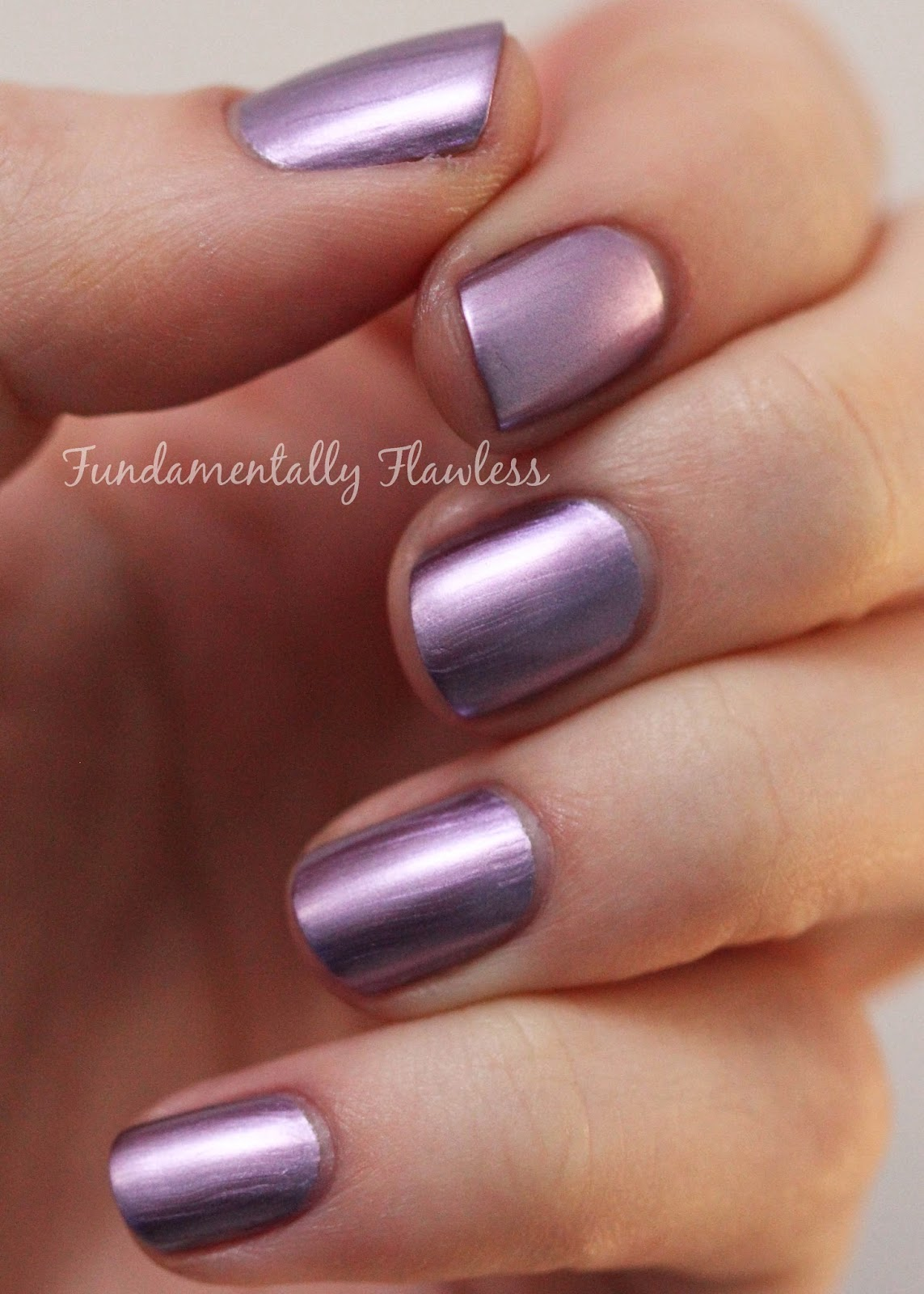 Models Own Colour Chrome Collection Mauve Swatch