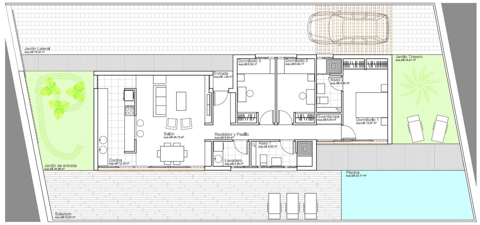 pequeña vivienda unifamiliar   bayo arquitectura