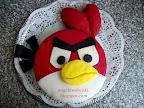 Mérges madarak torta, Angry Birds születésnapi csokoládé torta recept, marcipán bevonattal.