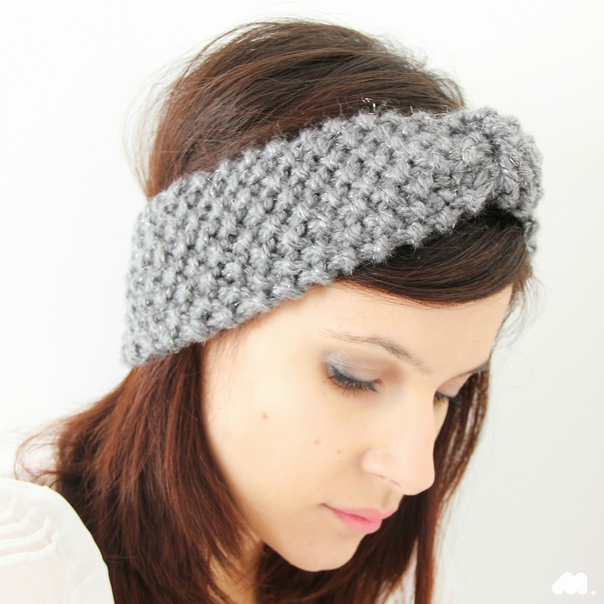 patron tricot headband