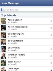 تطبيق محادثة الفيس بوك للبلاك بيري