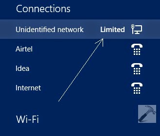 "WiFi ""limited connection"""