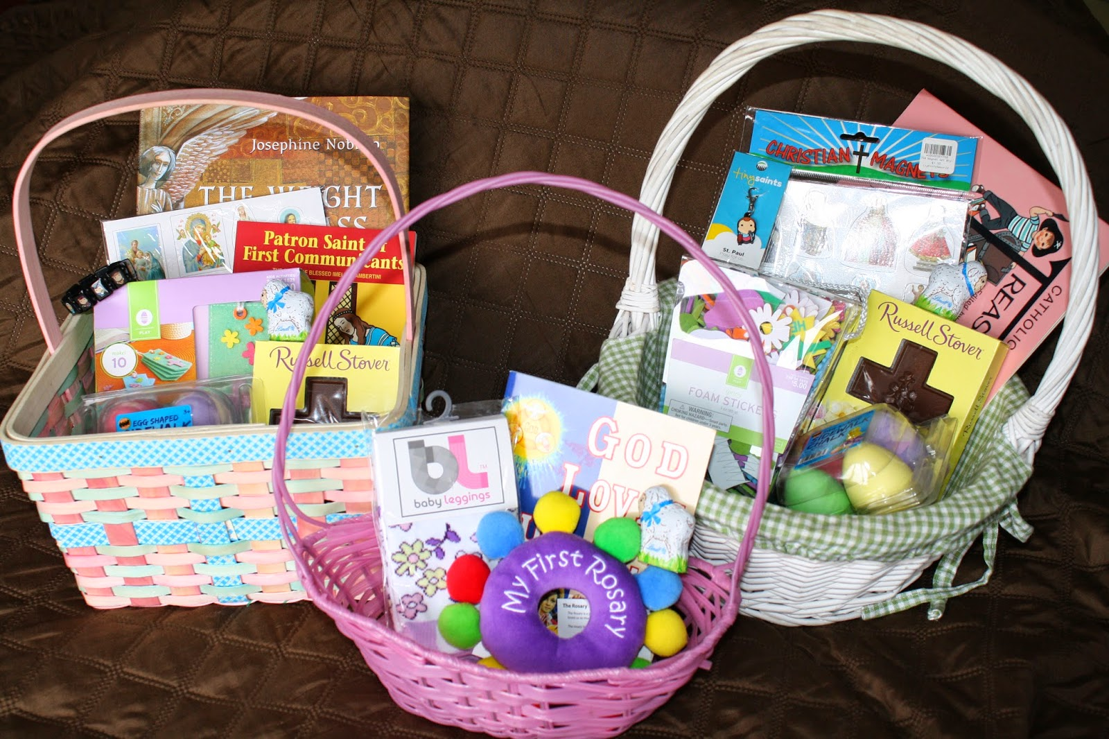 April 2014 catholic missionary family catholic easter baskets for our kids negle Choice Image