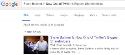WSJ Steve Ballmer is Now One of Twitters Biggest Shareholders
