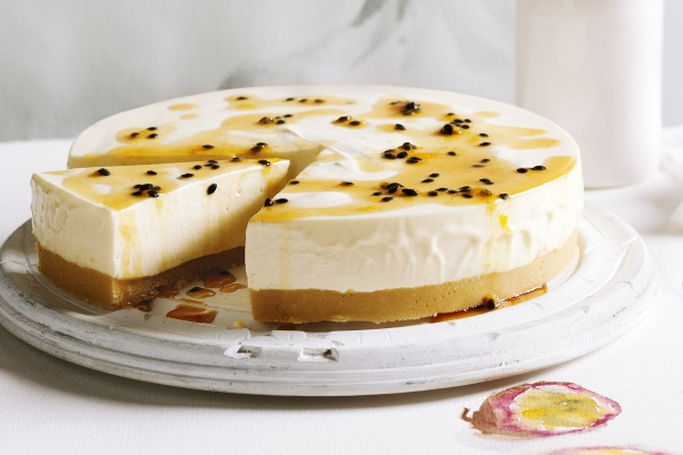 Passionfruit And White Chocolate Cheesecake