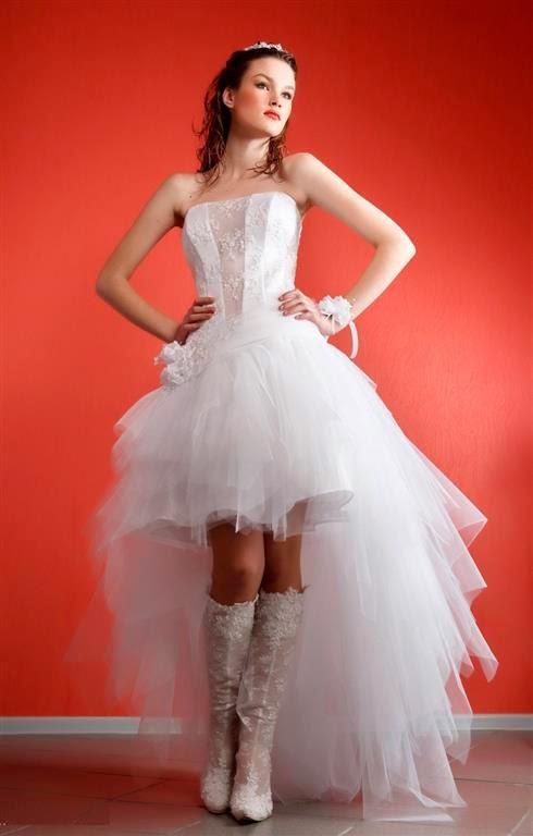 свадебные короткие платья со шлейфом свои