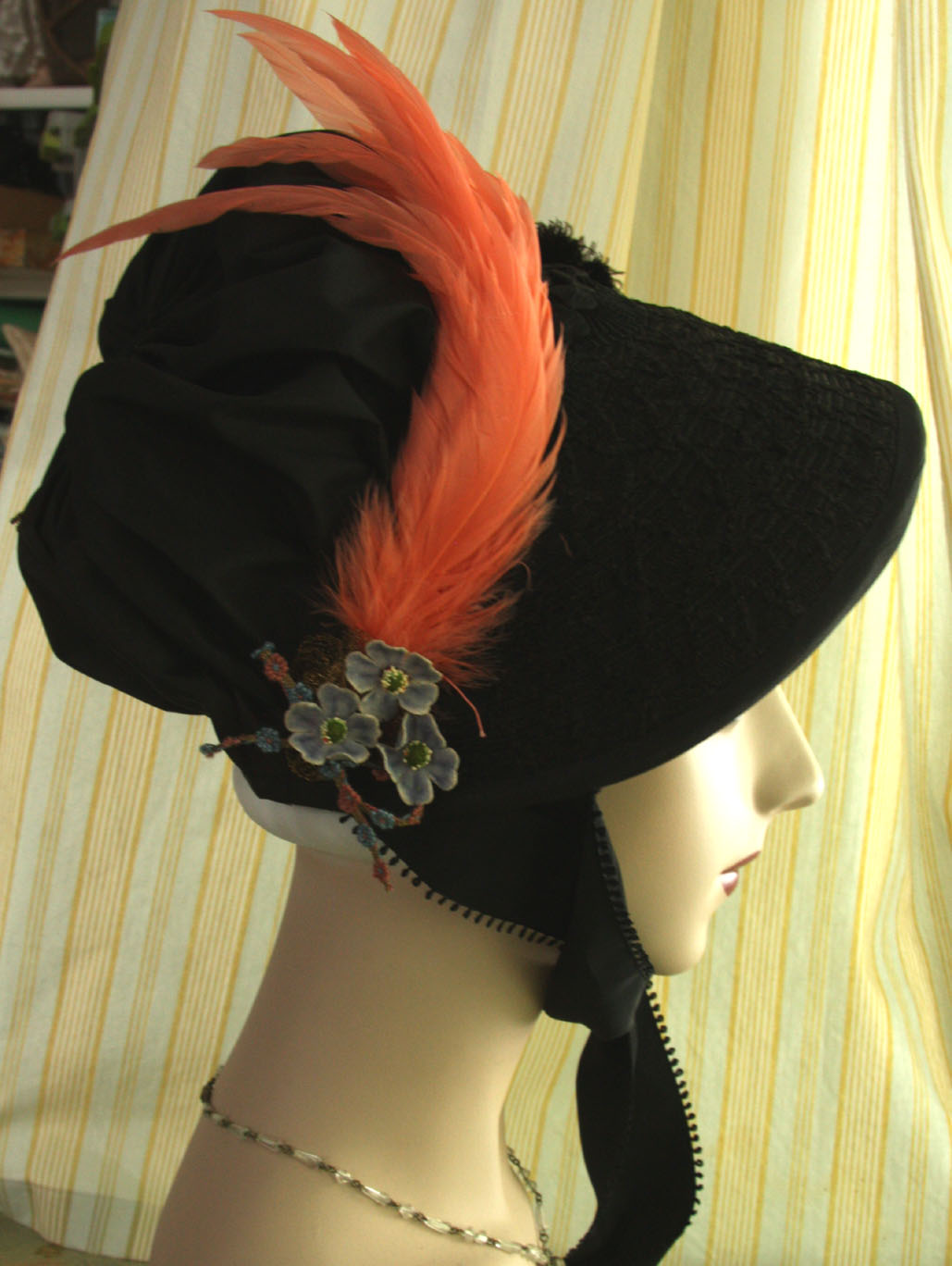 Duchess Trading: New bonnet-black regency cap