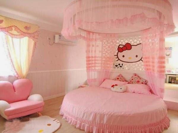 Gambar Desain Kamar Hello Kitty