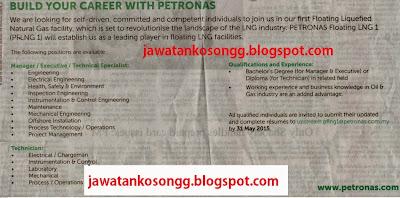 Jawatan Kosong LNG Petronas
