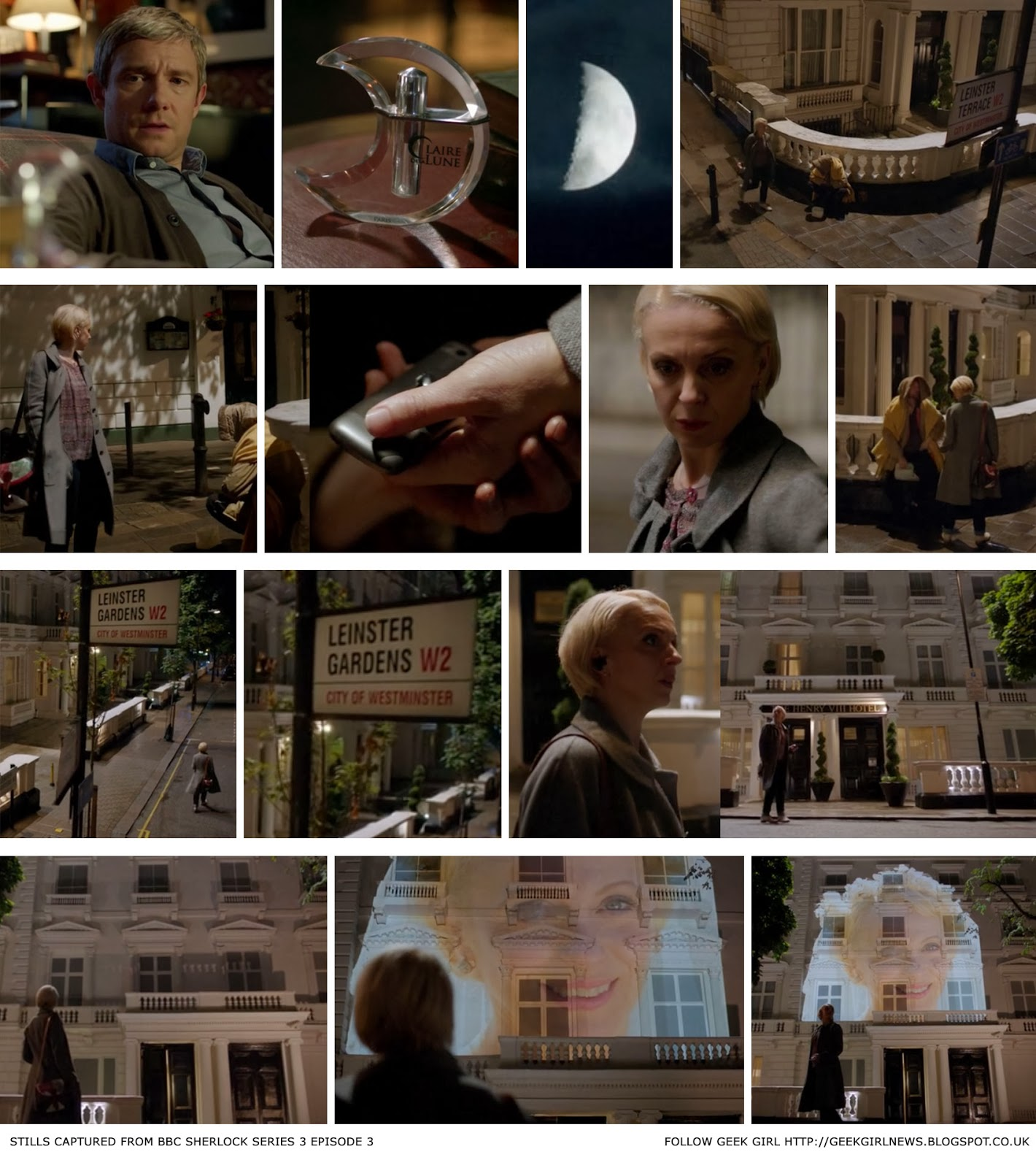 Sherlock and the lie of Leinster Gardens Episode screenshot walkthrough - Geek Girl Kerensa Bryant blog header
