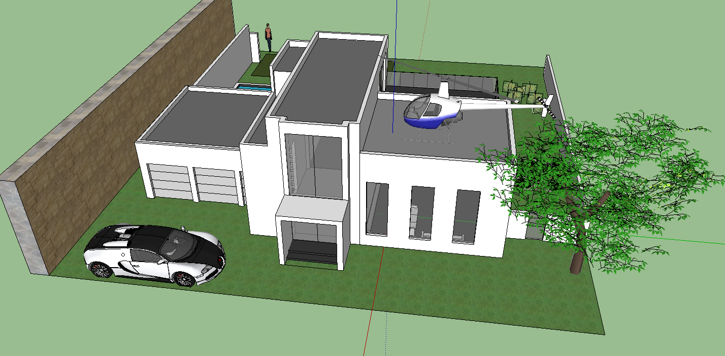 Google sketchup project 3 house it 200 steven yang for Project house