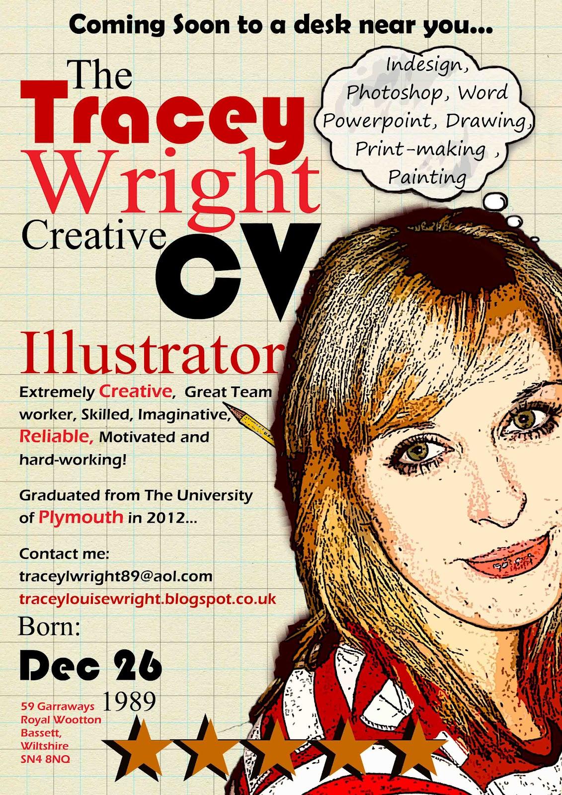 tracey wright illustration  creative cv u0026 39 s