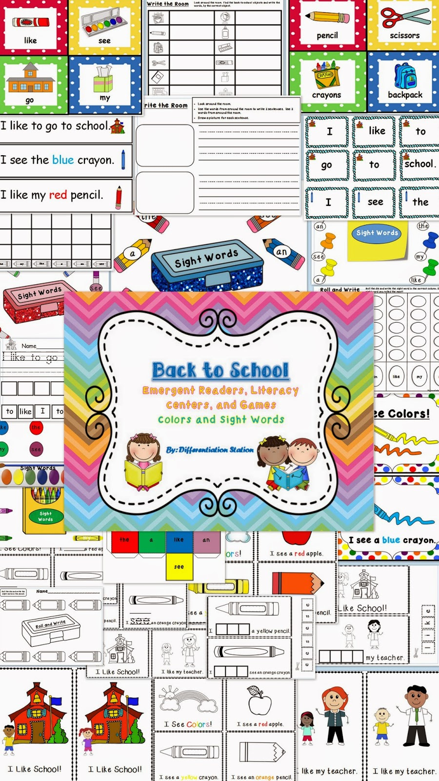 http://www.teacherspayteachers.com/Product/Back-to-School-Emergent-Readers-Literacy-Centers-and-Games-731994