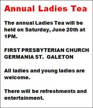 6-20 Annual Ladies Tea