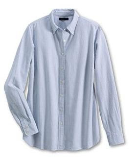 Bayshore Blue Washed Oxford Stripe Shirt