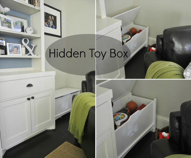 Good We Mainly Keep The Bigger Items In The Toy Boxes, But Have Baskets For  Organizing Smaller Things Like Cars And Puzzles. The Baskets Fit Nice And  Neat Inside ... Nice Design