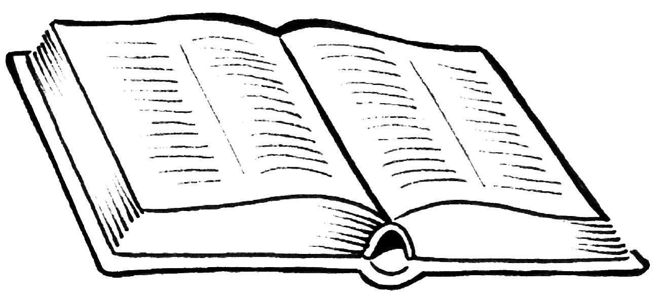 Biblia Abierta Para Colorear  Dibujos De Biblia Para Colorear