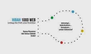hibah 1000 web untuk Lembaga Pendidikan Indonesia