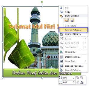cara membuat kartu Ucapan Selamat Idul Fitri dan Idul Adha 1434H dengan MS Word 2010 atau kartu ucapan lebaran 2013 pada ms word form