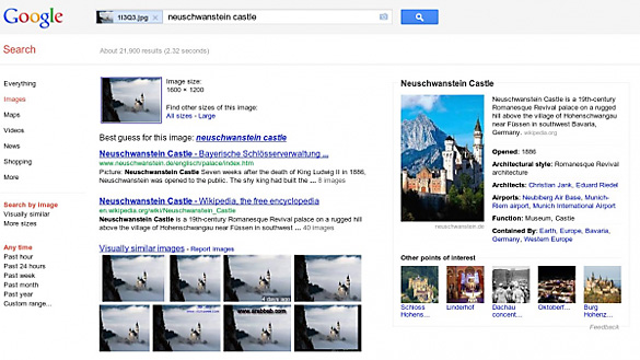 "La cautarea  dupa o imagine, Google va returna si datele disponibile in ""knowledge graph"""