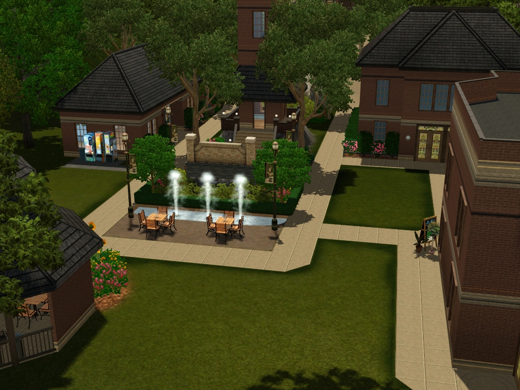 my sims 3 blog evansdale university and student union by