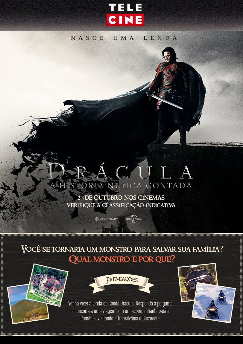 """Promoção  """" Drácula   – A  História  Nunca  Contada - Ganhe uma viagem para a Romênia"""
