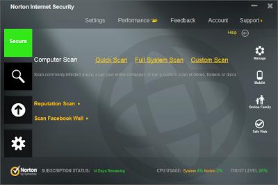 Norton Internet Security 2013 20.3.1.22 Full Crack