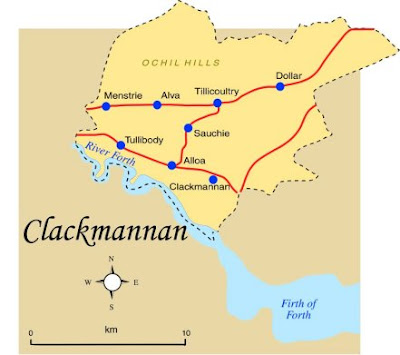 Map of Clackmannanshire Province Area