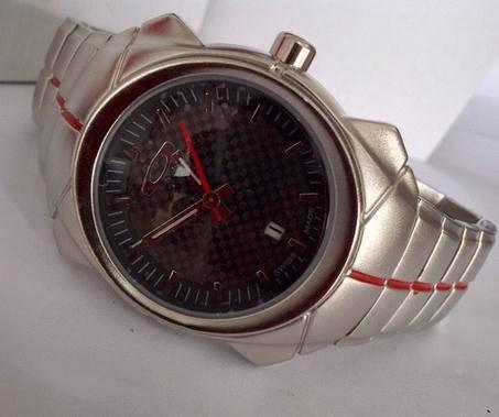 Jam Tangan Oakley Time Bomb II Date Silver