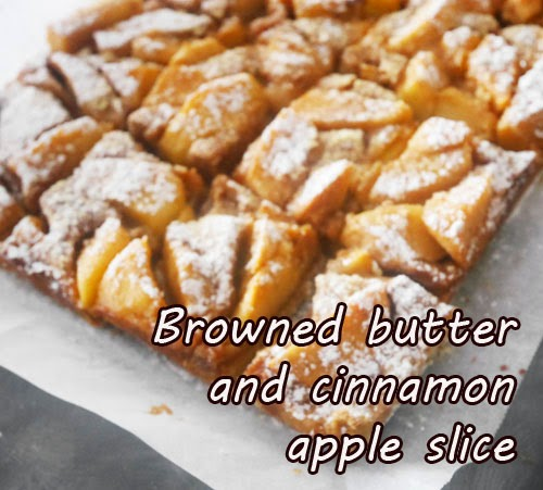Browned butter and cinnamon apple slice