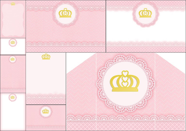 Free printable invitation quinceanera orderecigsjuicefo golden crown and pink lace free printable invitations oh my invitation templates stopboris Images