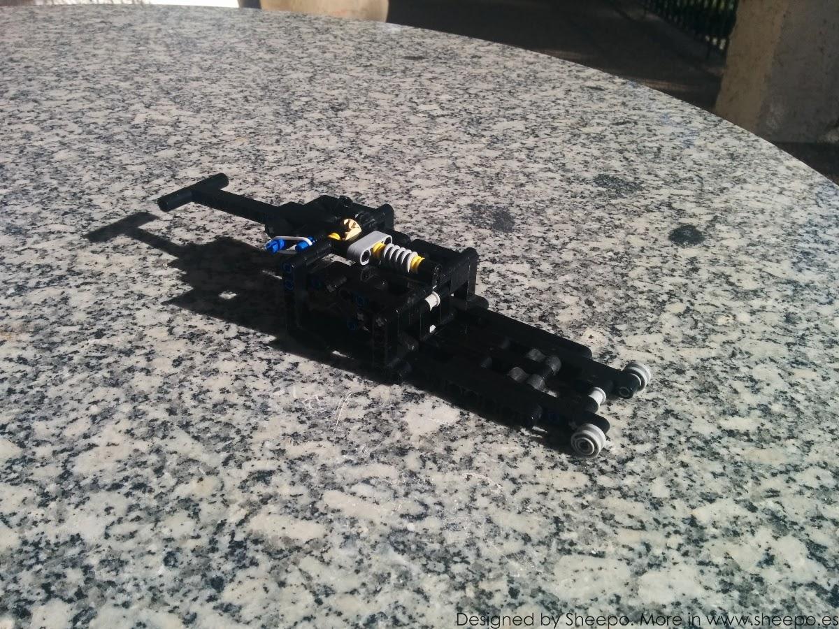 Lego Moc 1512 Mechanic Garage Jack Technic Gt Model