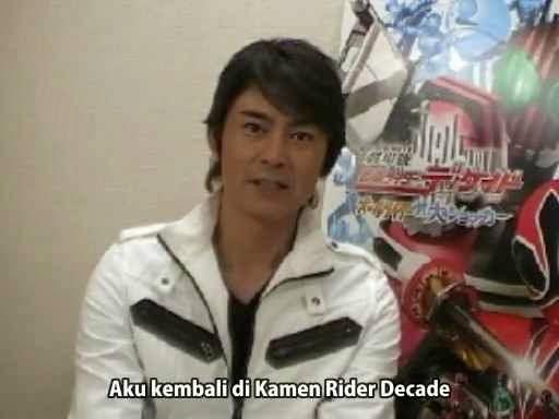 Interview Kotaro Minami di Kamen Rider Decade (Subtitle Indonesia)