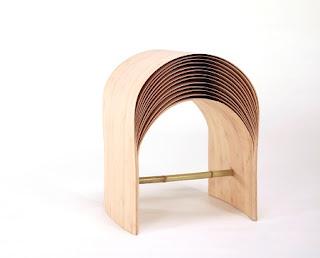 Taburete de Bambú, Muebles de Diseño, Materiales Sostenibles