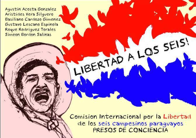 LIBERTAD A LOS 6 CAMPESINO PRESO POLITICO