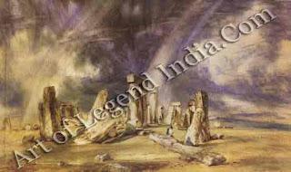 """Stonehenge"" 1836 15 ¼""x 23 ¼"" Victoria and Albert Museum"