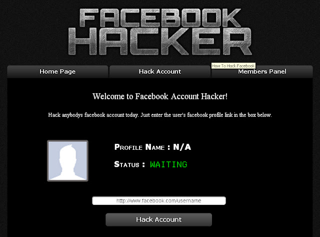 Cara Hack Facebook Profile