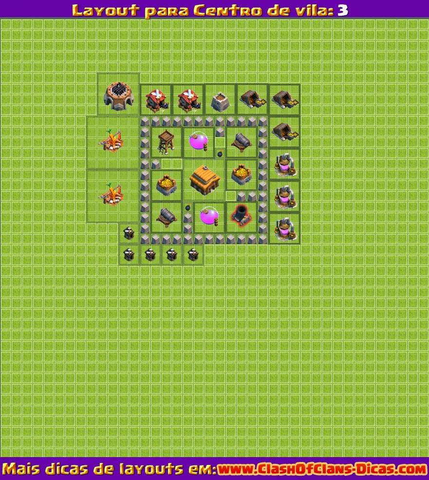 Nível 3 Layout clash of clans