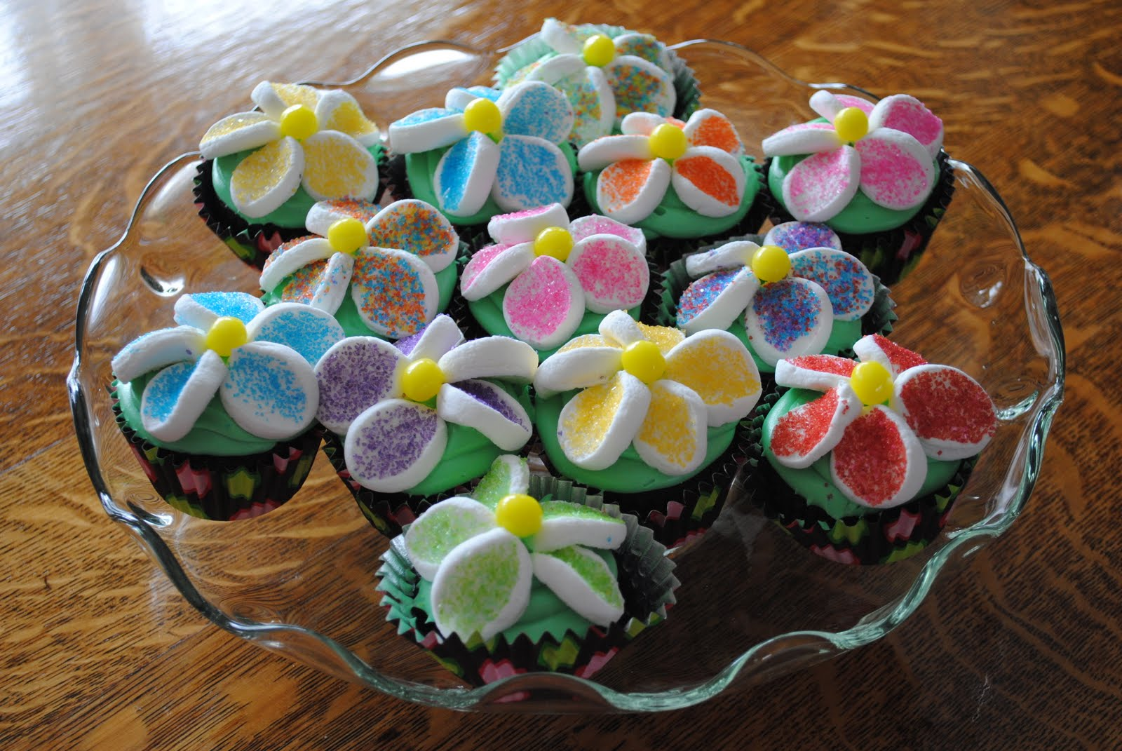 Wildflower Desserts: Birthday Flower Cupcakes