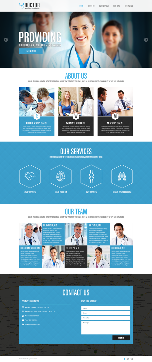 Free Medical PSD Template