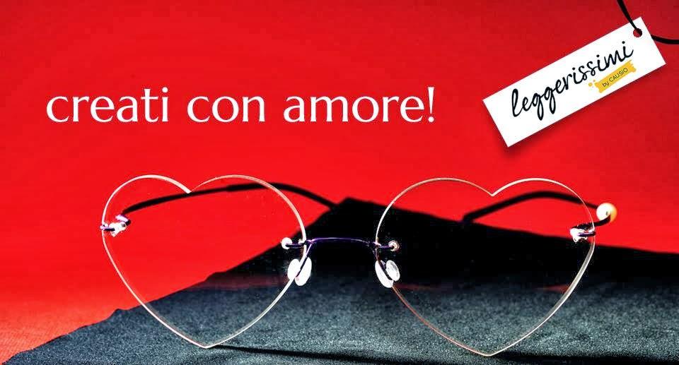 Con gli occhiali Leggerissimi si possono indossare dei veri e propri  occhiali gioiello realizzati a mano dalla creatività del suo ideatore  Adrian Causio e0050de37a5