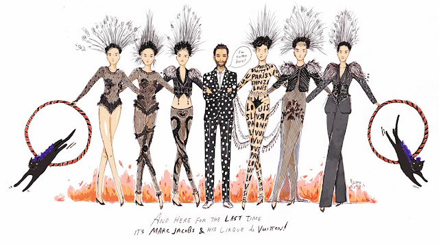 Kitty N. Wong / Marc Jacobs Louis Vuitton showgirls fashion comic